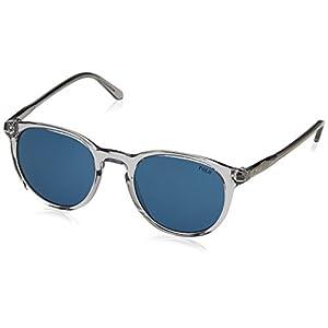 Polo Ralph Lauren Men's 0ph4110 Wayfarer Sunglasses, Shiny Semi Transparent Grey, 50 mm