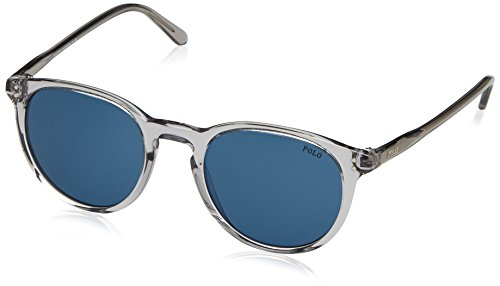 Polo Ralph Lauren Men's 0ph4110 Wayfarer Sunglasses, Shiny Semi Transparent Grey, 50 mm (Polo Lauren Ralph Sunglasses)