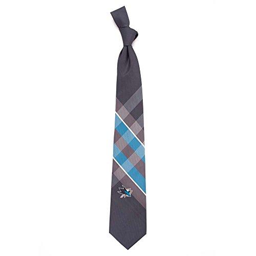 San Jose Sharks Grid Poly Necktie