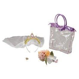 Rapunzel Costume Target (Rapunzel Wedding 3 piece Accessory Set - tote, Tiara and bouquet)