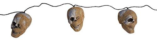 72 Inch Tattered Skull Mummy Garland Hanging Halloween Decoration (Foam Skull)