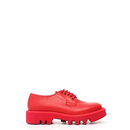 Crown Rojo Crown Zapatos Zapatos Leather Leather wIq1Bw
