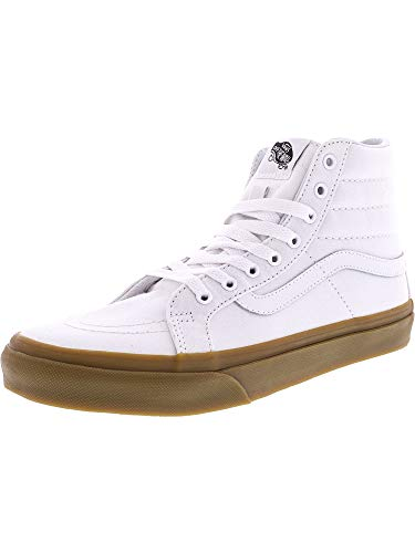 db82cd40ea Galleon - Vans Sk8-Hi Slim Light Gum True White High-Top Canvas  Skateboarding Shoe - 10M   8.5M