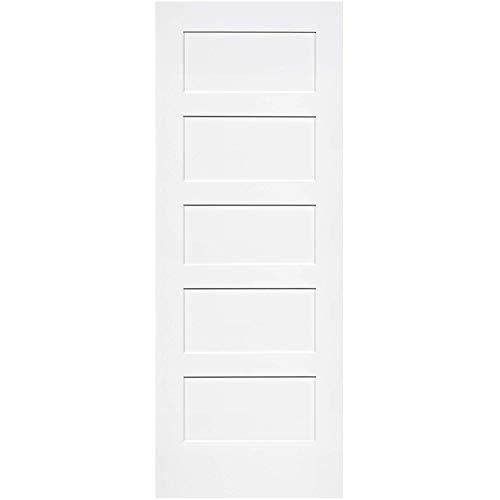 Snavely International 5-Panel Door, White Primed Shaker 80 in. x 30 in.,snavely international