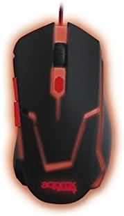 Approx Gaming APPTWISTER2 - Ratón para Gaming, Color Negro y Rojo