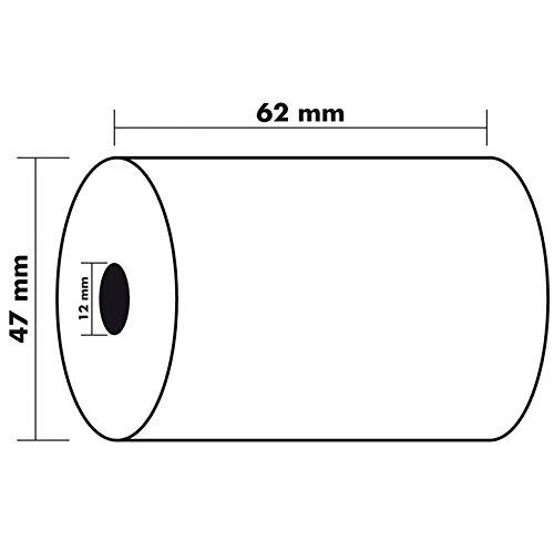 Exacompta 42135E - Bobina 1 pliegue térmico para balanza, 10 unidades, 62 x 47 mm