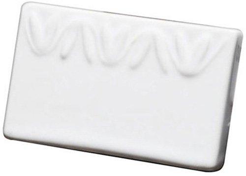 American Metalcraft (CCR3) Small Leaf Pattern Ceramic Menu Card