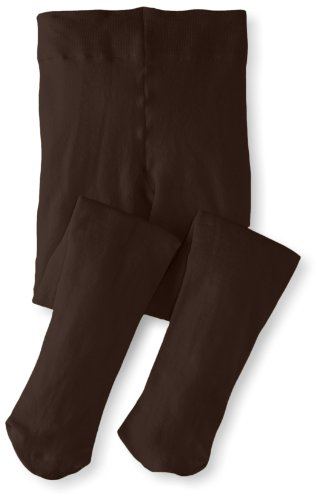 Jefferies Socks Big Girls'  Pima Cotton Tights, Chocolate, 6-8 - Apparel Kids Chocolate Brown Big