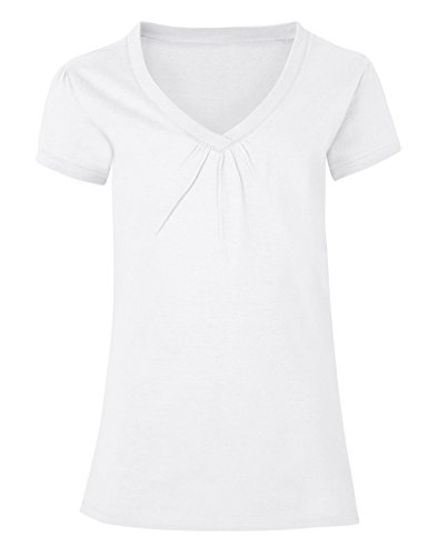 Hanes Girls' Shirred V-Neck Tee -