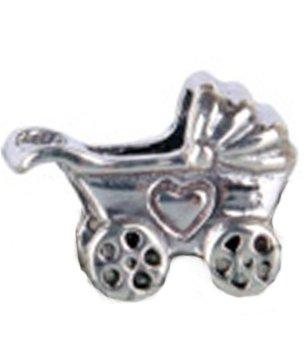 Carrito de bebé Everbling de cochecito auténtico 925 de plata de ley cuenta para pulsera compatible con joyas Pandora Biagi Chamilia Troll Europen pulseras ...