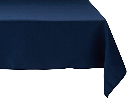 Square Polyester Tablecloth (LinenTablecloth 54-Inch Square Polyester Tablecloth Navy Blue)
