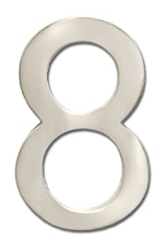 Architectural Mailboxes 3582B-3 4 in. Brass Floating House Number