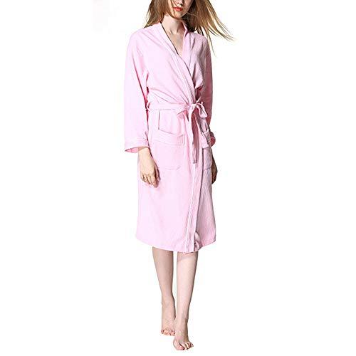 Plus Spa Size per Navy cotone Accappatoio Color Size lungo in leggero M Pink donna blue Accappatoio Accappatoio qWXSw6YY