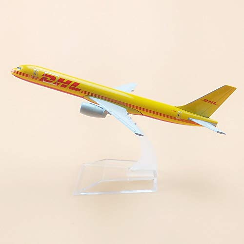 ZAMTAC Air DHL Airlines Boeing 757 B757 Airways Plane Model Aircraft 16cm Alloy Metal Air Airplane Model w Stand Crafts Gift