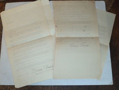 Modernist Signed (4 TYPED LETTERS, INCLUDING 3 SIGNED, by the Modernist poet WALLACE GOULD admired by William Carlos Williams & Marsden Hartley.)