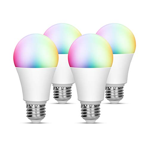 Torkase Smart Wi-Fi LED Light Bulb, 2700K to 6500K Dimmable, 16 Million Multicolor A19 Lighting Bulbs, 7-Watt(60-Watt Equivalent), Compatible with Amazon Alexa, Google Home, IFTTT (2.4 Ghz) -4 Pack