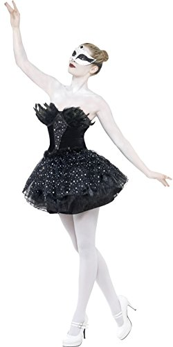 Easy Black Swan Halloween Costume (Smiffy's Gothic Swan Costume, Black, Medium)