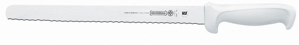 Mundial W5627-12E 12-Inch Serrated Edge Slicing Knife, White
