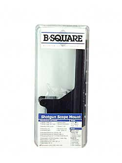 B-square Shotgun Mount - B-Square W-Inchter/USRAC 1200/1300/1400/1500 12 Gauge Shotgun Saddle Style Mount, Matte Black Finish