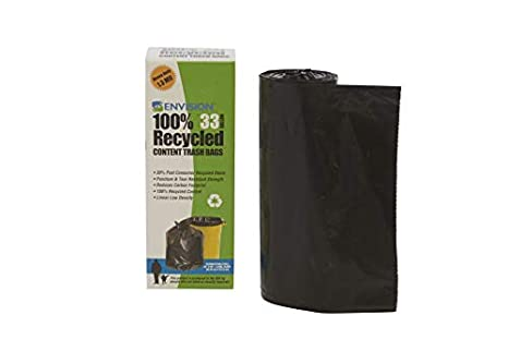 Stout t3340 K13r bolsas de basura de plástico reciclado, 33 ...