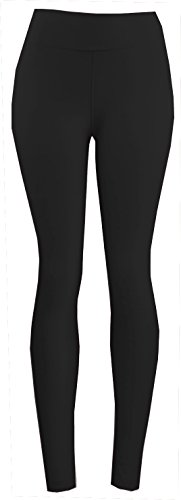 Lush Moda Extra Soft Leggings-Variety of Colors-Plus Size Yoga Waist-Black Yoga Waist,One Size fits Most (XL - 3XL)