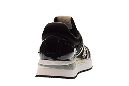 Femme Chaussures Or PREMIATA Sneakers LIZ Bas 2999 Noir Z56d60q