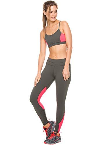 Flexmee Women Workout Leggings Gym Yoga Training Stretch Supplex Activewear Comfortable Sports Pants Pantalones Deportivos Ropa Deportiva Gray M (Gym Pant Supplex)