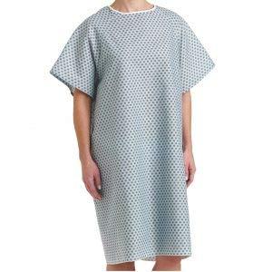 Elivo Premium Hospital Gown  Talla única para todos los unisex. Ropa quirúrgica profesional, bata de entrega, vestido de lactancia, pijama de ...
