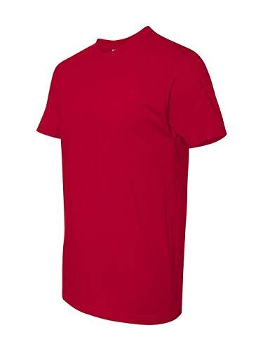 Next Level Men's Premium Fitted Short-Sleeve Crew 3600-Red,M