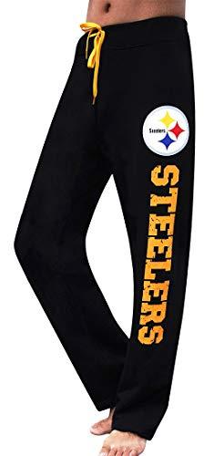 Winzonup Womens Football Sporty Steelers Casual Pants-2XL Black