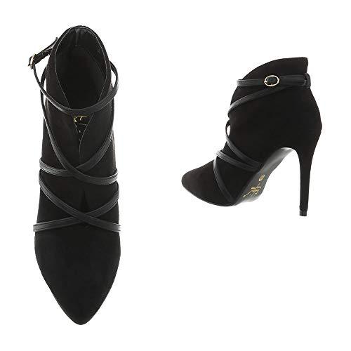 Femme Schwarz B433s Heels High 56 Hp Ankle Boots Chaussures kb Y7wq0PT
