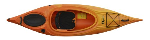 Riot Kayaks Quest 9.5 Flatwater Recreational Kayak, Yellow/Red