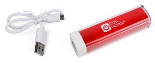 Für Ihre AUKEY EP-B4-G Bluetooth, EP-B4-S | AUVI QY19 Bluetooth Kopfhörer: ROTER Notstromversorgungs-Stick | Emergency Charger | Power Bank | Reiseladegerät | Travel Adapter (1x Mikro-USB, 1x Standard USB)