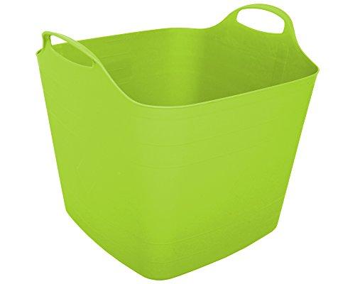 Flexi Tub Tragekorb Gartenkorb Wäschekorb Spielzeugeimer 40 Liter limette