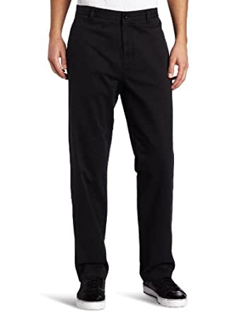 Calvin Klein Men's Dylan Soft Wash Straight Leg Chino Pant, Black, 28Wx30L