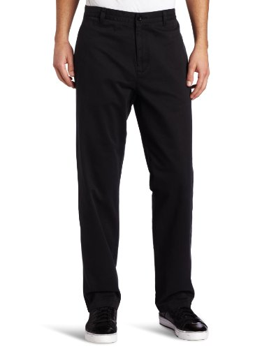 (Calvin Klein Men's Dylan Soft Wash Straight Leg Chino Pant, Black, 31Wx30L)
