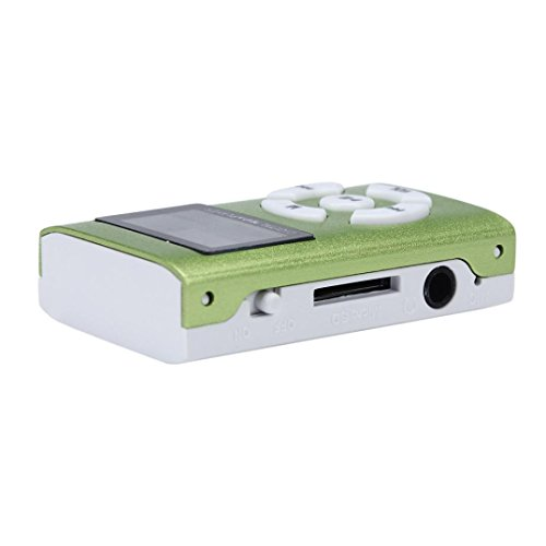 MP3 Player,Tuscom USB Mini MP3 Player LCD Screen Support 32GB Micro SD TF Card (Green)