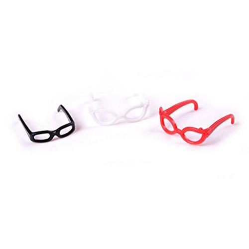 Dengguoli 4X Doll Accessories Plastic Glasses for Monster High Doll Barbie Doll 11-12 Inch (Clothing For Girls Monster High)