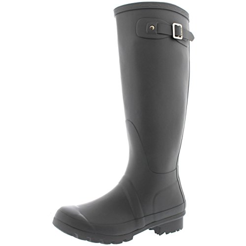 Womens Original Tall Snow Winter Waterproof Rain Wellies Wellington Boots - 9 - GRE40 - Rain High Boots Knee