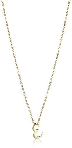 (Roberto Coin Initial E Pendant Necklace, 17