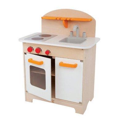Hape Gourmet Kitchen in White Kid's Wooden Play Kitchen