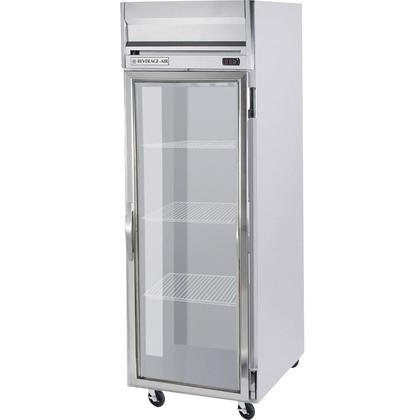 Beverage-Air HRP1-1G Horizon Series One Section Glass Door Reach-In Refrigerator 24 cu.ft. capacity Stainless Steel Front and Sides Aluminum