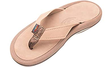 f5c6bac067094 Rainbow Sandals Men s Navigator Premier Leather Orthopedic Foot Bed  w Tapered Strap Dark Brown