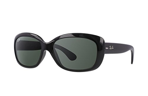 Ray Ban RB4101F 601/71 58mm Black/Green Jackie Ohh Sunglasses Bundle-2 - Ohh Ii Jackie