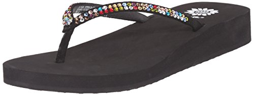 (Yellow Box Women's Jello Sandal, Black/Multi, 8 M)