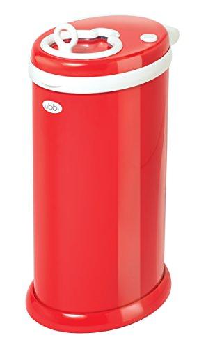 Ubbi Steel Diaper Pail Red