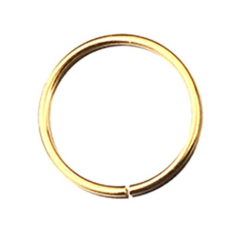 Botrong® Stainless Steel Round Nose Ring Piercing Earring Stud Stud Nasal Septum (8mm, Gold) (Diamond Set Invisible Bridal)