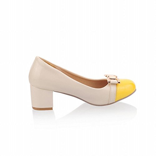 Mee Shoes Women's Cute Bow Slip On Court Shoes Yellow tzDiFor2QO