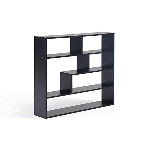 (Danya B. XF151012BK Rectangular Shelves, Black)