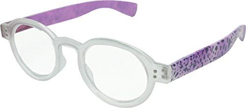 True Gear iShield Block Blue Light Computer Anti Reflective and UV Purple Animal Print Reading Glasses +2.75 with Stylus Pen - Where Reading Buy To Glasses Stylish